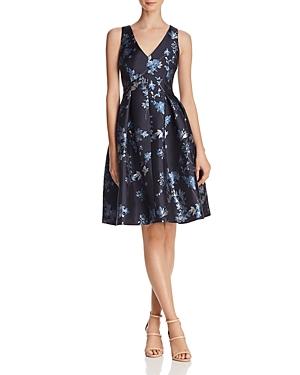 Eliza J Dresses FLORAL JACQUARD DRESS