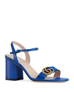 Marmont Leather Sandals - Md. Blue Size 11
