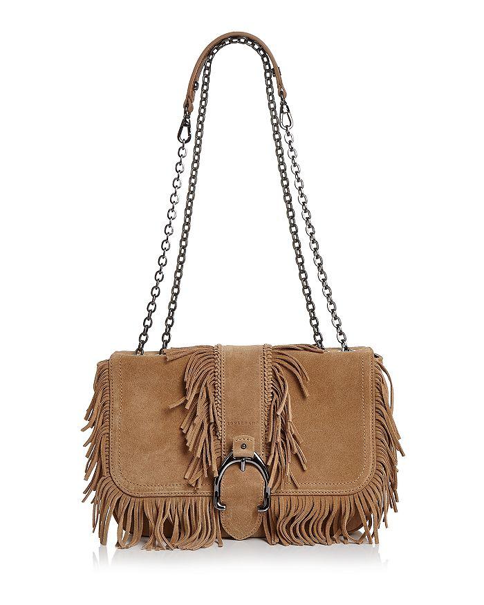 Longchamp - Amazone Folk Small Nubuck Leather Crossbody cf8f844f20314