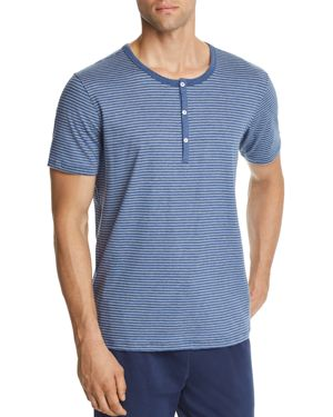 DANIEL BUCHLER LOUNGE SHORT-SLEEVE STRIPED HENLEY