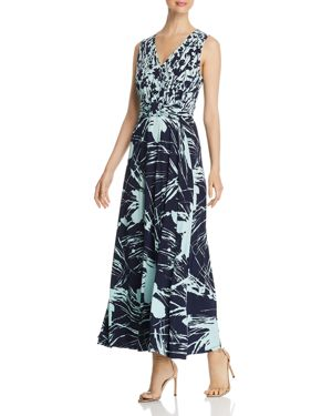 Nicole Print V-Neck Maxi Dress, Sorrentine / Solaro