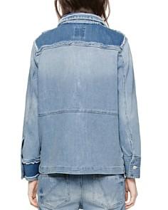 Zadig & Voltaire - Kick Destroy Denim Jacket in Bleu