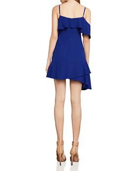 BCBGMAXAZRIA - Asymmetric Ruffled Crepe Dress