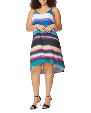 Rebel Wilson x Angels Plus Watercolor Stripe Cami Dress