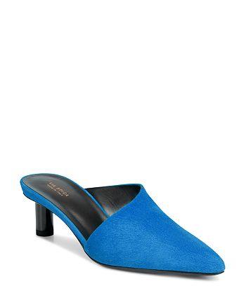 Via Spiga - Women's Freya Pointed Toe Cylinder-Heel Slide Mules