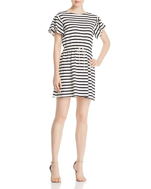 kate spade new york - Striped Fit-and-Flare Dress