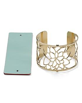 Les Georgettes - Nénuphar Reversible Wide Two-Tone Open Cuff Bracelet