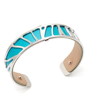 Les Georgettes - Perroquet Reversible Two-Tone Open Cuff Bracelet