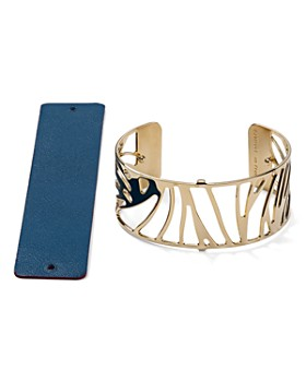 Les Georgettes - Perroquet Reversible Medium Two-Tone Open Cuff Bracelet
