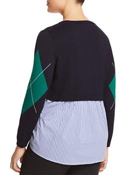 Marina Rinaldi - Acrobata Argyle & Striped Back Panel Sweater