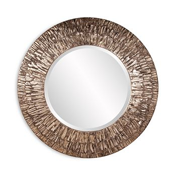 """Howard Elliott - Linden Round Mirror, 36"""" x 36"""""""