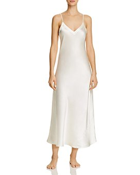 GINIA - Silk V-Neck Nightgown