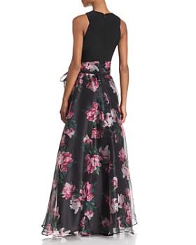 Eliza J - Floral Organza Ball Gown