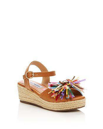 4c87a9e00c29 STEVE MADDEN - Girls  JStrwbri Platform Wedge Espadrille Sandals - Little  Kid
