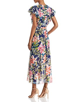 Eliza J - Floral Faux-Wrap Dress