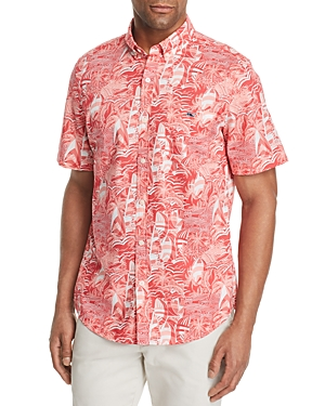 Vineyard Vines Slim-Fit At Sea Printed Short-Sleeve Shirt