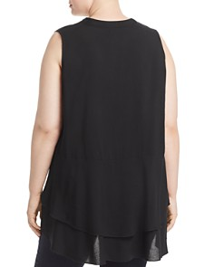 Love Scarlett Plus - Sleeveless Tiered Flutter Top