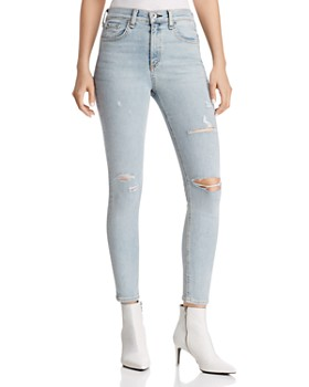 rag & bone/JEAN - High Rise Ankle Skinny Jeans in Norlet