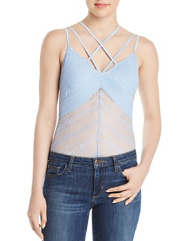 GUESS - Nadine Strappy Lace Bodysuit