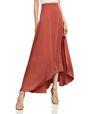 Bcbgmaxazria Jillian Asymmetric Satin Maxi Skirt