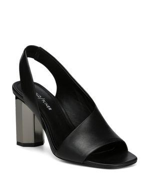 DONALD PLINER Women'S Ella Leather Column Heel Sandals in Black