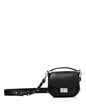 The Kooples - Emily Mini Leather Saddle Bag
