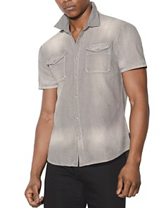 John Varvatos Star USA - Faded Short-Sleeve Button-Down Shirt