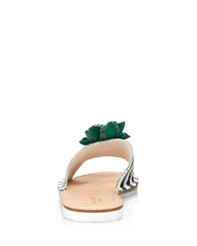 kate spade new york - Women's Icarus Studded Leather Pineapple Slide Sandals