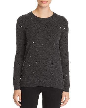 C by Bloomingdale's - Studded Cashmere Sweater - 100% Exclusive