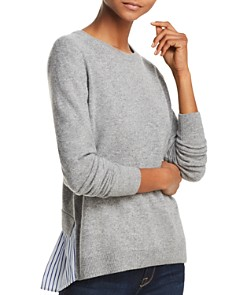 AQUA Cashmere Ruffle-Back Sweater - 100% Exclusive - Bloomingdale's_0
