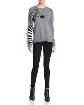 AQUA - Zebra Fringed Cashmere Sweater - 100% Exclusive