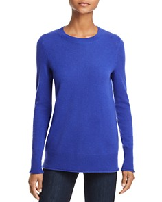 AQUA - Fitted Cashmere Crewneck Sweater - 100% Exclusive