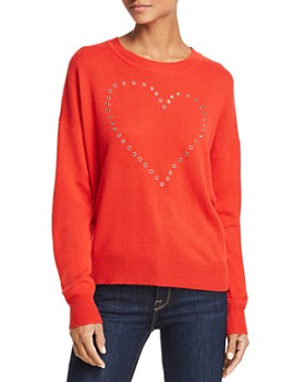 AQUA - Grommet Heart Cashmere Sweater - 100% Exclusive