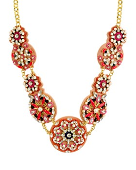 kate spade new york - Beaded Medallions Statement Necklace, 14""
