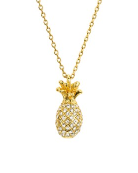 kate spade new york - Pavé Mini Pineapple Necklace, 16""