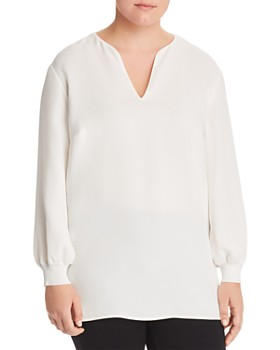 Lafayette 148 New York Plus - Roxy Silk Blouse
