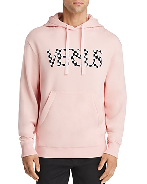 Versus Versace Checkered Logo Hooded Sweatshirt
