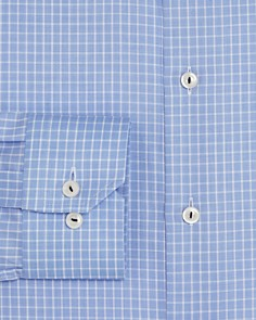 Eton - Grid Check Regular Fit Dress Shirt
