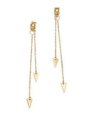 Moon & Meadow Arrow Chain Drop Front-Back Earrings in 14K Yellow Gold - 100% Exclusive
