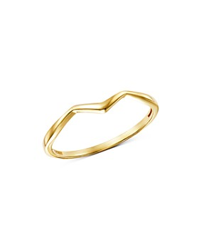 Moon & Meadow - Polished Zigzag Ring in 14K Yellow Gold - 100% Exclusive