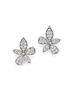 Bloomingdale's Diamond Flower Earrings in 14K White Gold, 1.0 ct. t.w. - 100% Exclusive