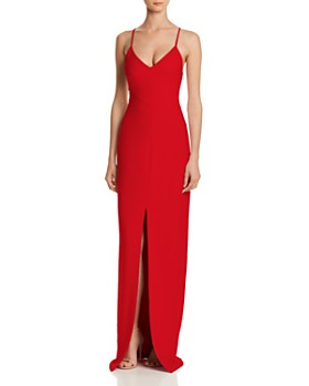 LIKELY - Brooklyn Front-Slit Gown