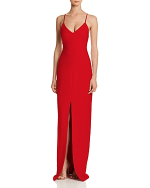 Likely Brooklyn Front-Slit Gown