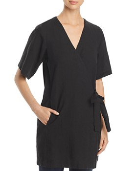 Eileen Fisher Petites - Wrap-Front Tunic Top