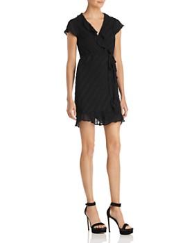 Bardot - Ruffle-Trim Faux-Wrap Dress