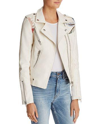BLANKNYC - Palm Tree Faux Leather Moto Jacket