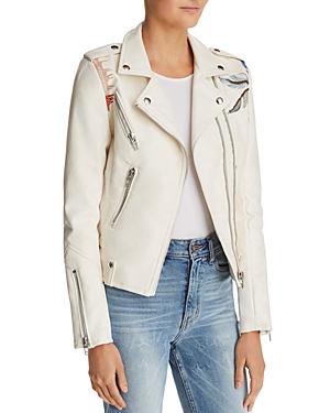 Blanknyc Palm Tree Faux Leather Moto Jacket