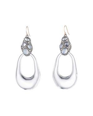 Alexis Bittar Crystal Cluster Loop Drop Earrings