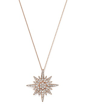 Bloomingdale's - Diamond Starburst Pendant Necklace in 14K Rose Gold, 0.50 ct. t.w. - 100% Exclusive
