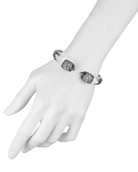 Alexis Bittar - Crystal Cluster Skull Hinged Bracelet